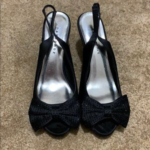BOGO FREE🍁Metaphor Black Bow Heels
